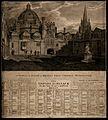 Brasenose College, Oxford; the quadrangle. Etching by J. Bas Wellcome V0014687.jpg