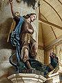Brasparts 15 Eglise Saint-Tugen statue de saint Michel terrassant le dragon.JPG