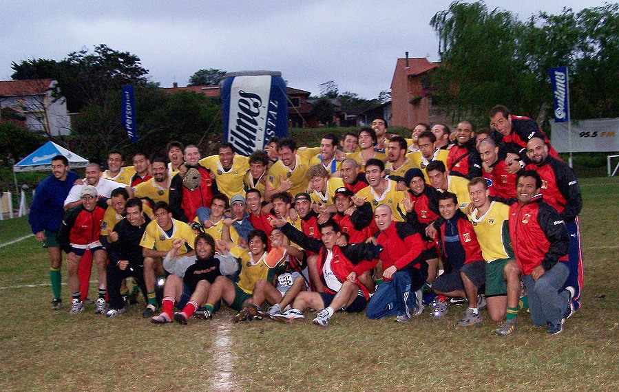 Brazil and Peru's national rugby union teams