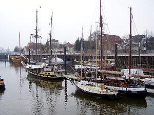 Bremen-Vegesack - Harbour in Bremen-Vegesack