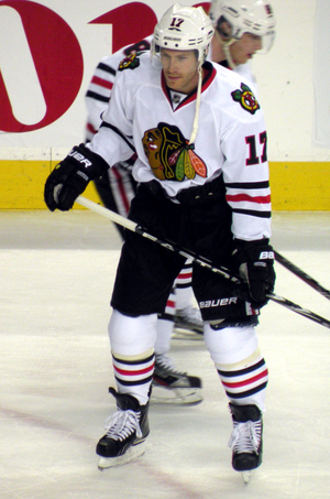 Brendan Morrison - Morrison with the Chicago Blackhawks in 2012