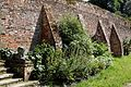 Brick buttress wall of Walled Garden at Parham House, West Sussex, England.jpg