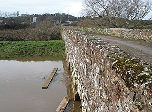 Clyst St Mary - The medieval bridge over the River Clyst at Clyst St. Mary