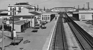 Bridgwater railway station - The station in 1963