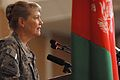 Brig. Gen. Anne MacDonald, NATO Training Mission - Afghanistan (NTM-A) Assistant Commanding General for Afghan Police Development, address the crowd (4406380949).jpg