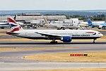 British Airways, G-VIIA, Boeing 777-236 ER (43497122685).jpg