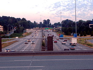 British Columbia Highway 1 - Highway 1 as it enters Vancouver from Burnaby.