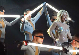 "3 (Britney Spears song) - Spears performing ""3"" at her Las Vegas residency show, Britney: Piece of Me."