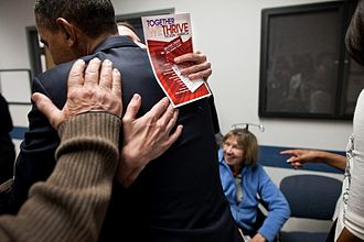 Barack Obama Tucson memorial speech - Obama meets with shooting victims and their families at the McKale Center.
