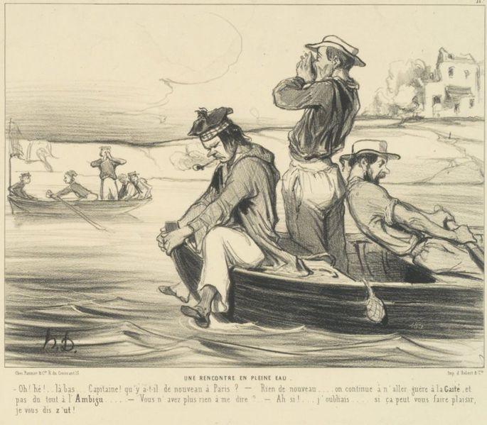 File:Brooklyn Museum - An Encounter in Open Water (Une Rencontre en pleine eau) - Honoré Daumier.jpg