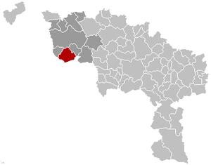 Brunehaut - Image: Brunehaut Hainaut Belgium Map