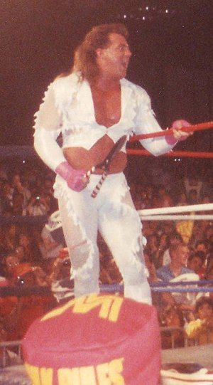 Brutus Beefcake - Leslie with Brutus Beefcake's trademark haircutting shears.