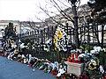 Bucuresti, Romania. Flori si candele in memoriam Regele Mihai. Ultimul Rege al nostru. 8 Decembrie 2017.jpg