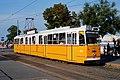 Budapest Ganz-built articulated tram 1443 at Batthyány tér terminus in 2007.jpg