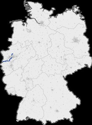 Bundesautobahn 52 - Image: Bundesautobahn 52 map