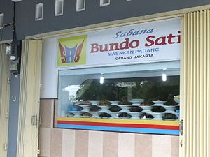 Bundo Sati Padang Restaurant Mataram Lombok.JPG