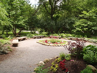 West Seneca, New York - Image: Burchfield Nature Center garden
