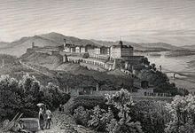Die Burg von Ofen um die Mitte des 19. Jahrhunderts (Quelle: Wikimedia)