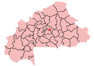 Ziniaré - Location of Ziniaré in Burkina Faso