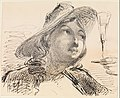 Bust of a Young Woman with Hat, Wine Glass (from Sketchbook) MET DP306659.jpg