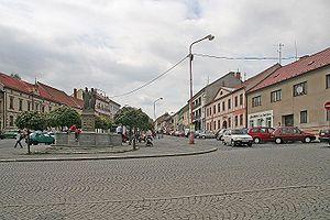Bystřice nad Pernštejnem - Image: Bystřice nad Pernštejnem náměstí