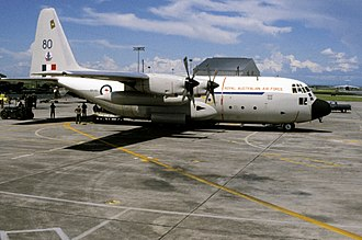 No. 37 Squadron RAAF - C-130E Hercules of No. 37 Squadron at Clark Air Base, Philippines, in November 1981