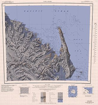 Cape Adare - Topographic map of the Cape Adare region