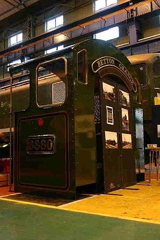 GWR 6800 Class 6880 Betton Grange - 6880's cab on display