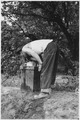 "CCC Camp BR-78 Orland Project, California, ""Drinking fountain in use."" - NARA - 293579.tif"