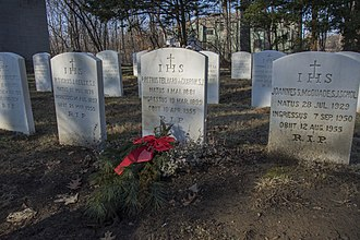 Pierre Teilhard de Chardin - Grave at the cemetery of the former Jesuit novitiate in Hyde Park, New York