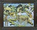 COLLECTIE TROPENMUSEUM Beschilderd houtsnijwerk in houten lijst TMnr 6298-1.jpg