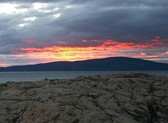 Cadillac Mountain - Sunset behind Cadillac Mountain