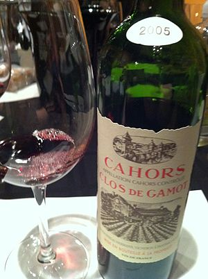 Cahors wine - A Cahors wine.