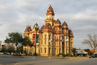 Caldwell County Courthouse (Texas) - Caldwell County Courthouse in 2008
