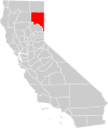 California county map (Lassen County highlighted).svg