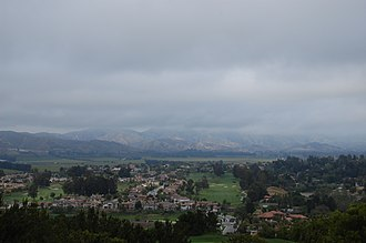 Camarillo, California - A view of Camarillo from nearby hills on a cloudy day in April. Such days are not typical of the area.