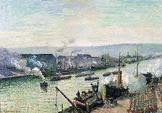 The Seine at Rouen, Saint-Sever