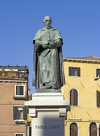 Paolo Sarpi - Statue of Paolo Sarpi, Campo Santa Fosca, Venice, near the place where he was stabbed by the pope's assassins