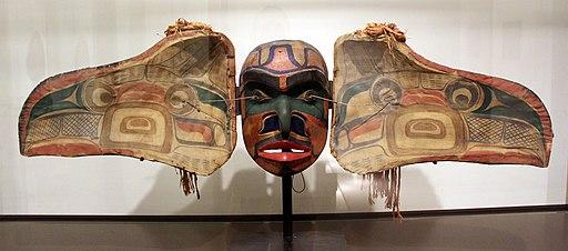 Canada, colombia britannica, kwakwaka'wakw, maschera che si trasforma, xix sec. 01