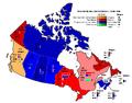 Canada 1962 carte vote populaire.png