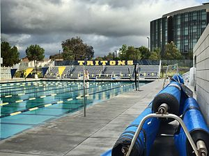 Canyonview Aquatic Center - The west pool and bleachers