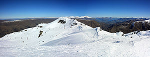 Cardrona Alpine Resort - Captains Basin view looking toward chairlift