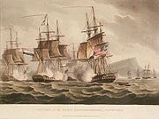 """Capture of the Maria Riggersbergen, 18 October 1806"" Thomas Whitcombe, 1817."