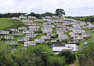 RV park - A caravan park on the cliffs above Beer, Devon, England.