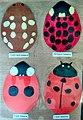 Card cutout ladybirds for children's nature trail.jpg