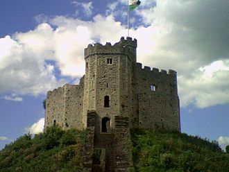 History of Cardiff - The ruins of the Norman keep at Cardiff Castle