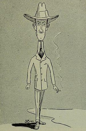 John Joy Bell - Caricature of Bell, by Stuart Boyd.