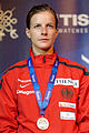 Carolin Golubytskyi podium 2013 Fencing WCH FFS-IN t204741.jpg
