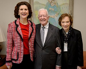 Lynda Bird Johnson Robb - (L-R)Robb, President Jimmy Carter and former First Lady Rosalynn Carter at The Carter Center in Atlanta, GA in 2016.