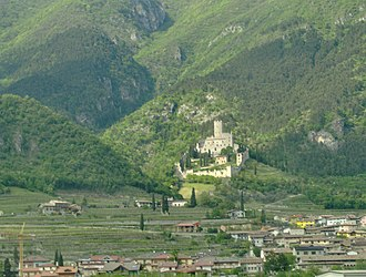 Lagarina Valley - Castle on hill above the town of Avio.